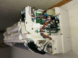 フィルター自動掃除付きエアコン
